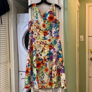 Evan Picone Floral Dress Sz 16